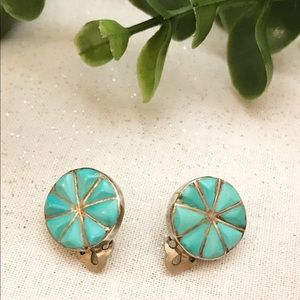Authentic Turquoise & Silver Earrings.